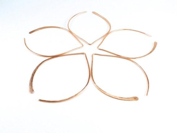 Wishbone Earrings - Large Rose Gold-Filled