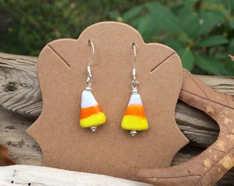 candy corn earrings halloween earrings halloween candy charm halloween jewerly fall decor fall decorations holidays sweets