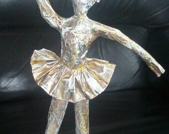 Ballerina papier-mâché sculpture