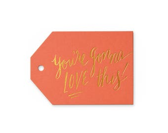 Gonna Love This - set of 6 letterpress tags