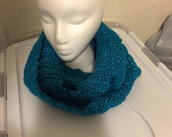 Turquoise Sparkle Infinity Scarf
