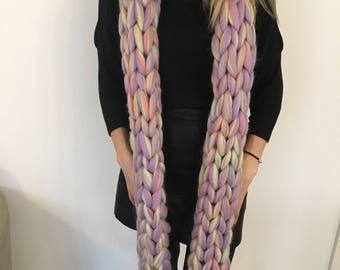 Chunky Knit Scarf - Merino Wool - 35+ Colours - Unicorn Chunky Knit