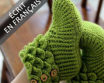 CROCHET PATTERN: Bottines Point Crocodile (Taille Adulte) - Permission to Sell Finished Product