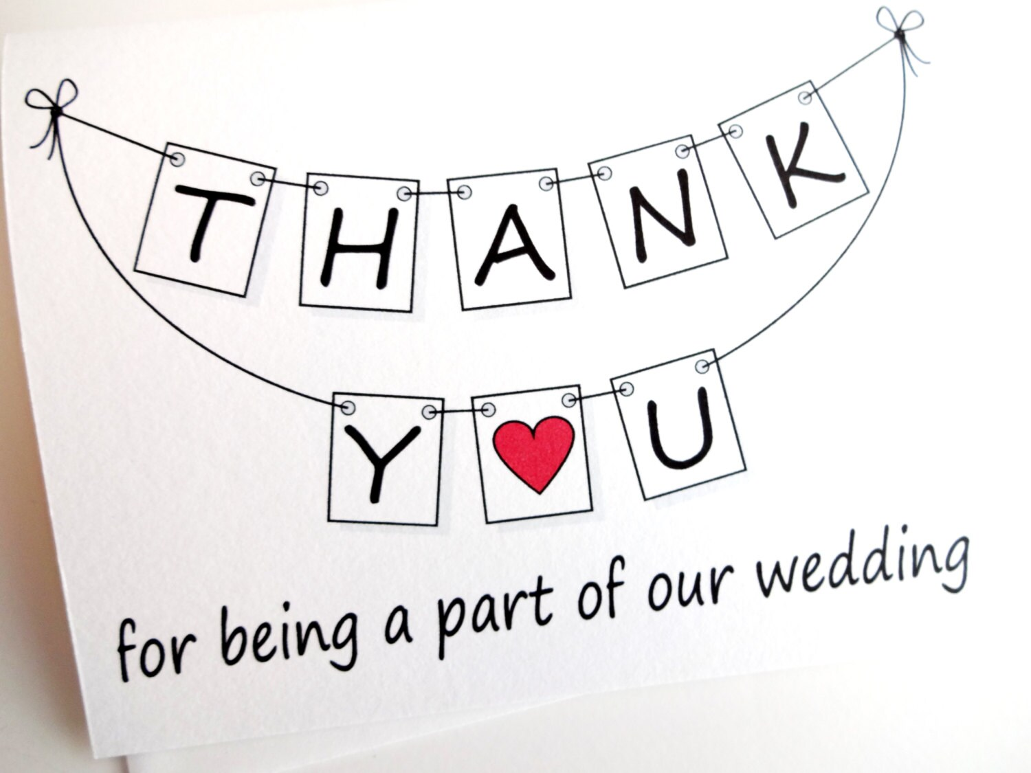 Wedding thank you card thank you for being a part of our zoom junglespirit Choice Image