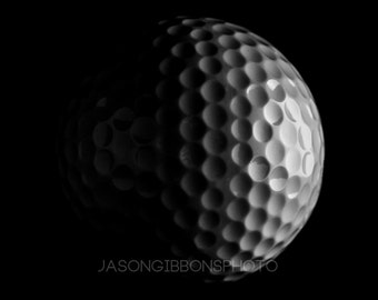 Golf ball Photography, Golf, Wall Art, Home Decor, Office Decor, Black and white