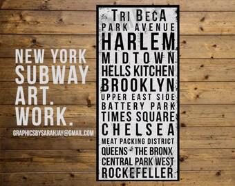 NYC Subway Art Print/Canvas/Printable