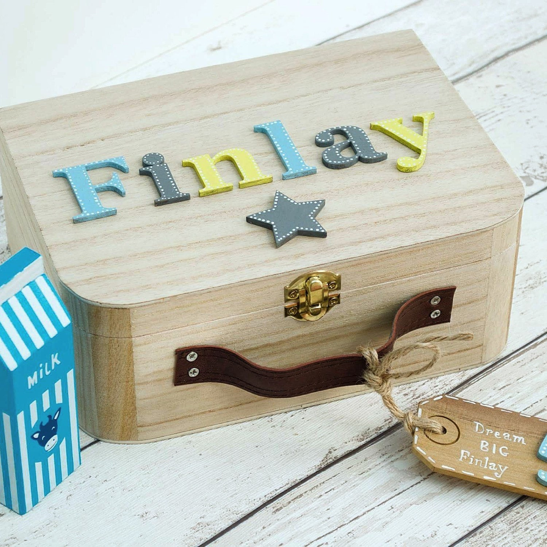 baby memory box keepsake box children 39 s suitcase style. Black Bedroom Furniture Sets. Home Design Ideas