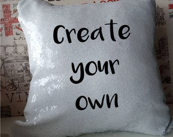 Create your own - fully personalised Mermaid Sequin Cushion