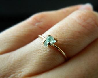 Blue Apatite Ring, Gold Engagement Ring, Apatite Ring, 14K Rose Gold Ring, 14K Yellow Gold, Blue Apatite Ring, Blue Apatite Gemstone