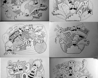 Custom doodle illustration
