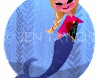 Anna Mermaid Print