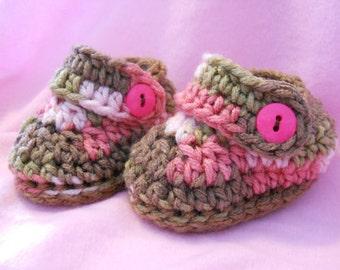 Crochet Button Strap Loafer Pattern