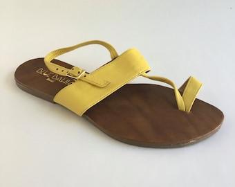Brazilian Leather T-Strap Sandals