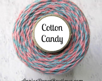 Baby Pink & Light Blue Bakers Twine by Trendy Twine - Cotton Candy