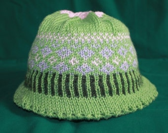 Spring garden hat for toddlers - green