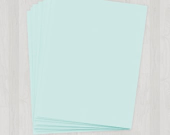 25 Sheets of Text Paper - Light Blue - DIY Invitations - Paper for Weddings & Other Events