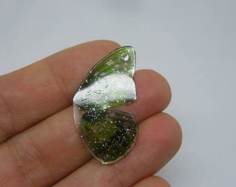 2 Butterfly wing charms resin A682