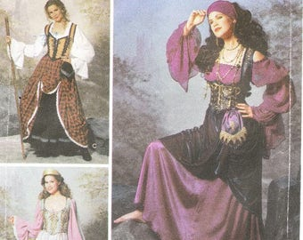 Simplicity 9966 Misses' Gypsy Costume Pattern, 6-12