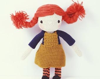 Crochet Doll - Pippi Langstrumpf