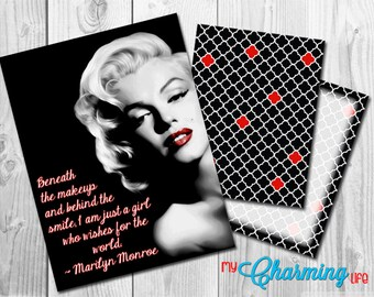 Planner Cover Set Printables - for use with Erin Condren, Happy Planner, Plum Paper - Marilyn Monroe 3 pc. Set