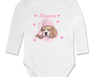 Small dog personalized with name Bodysuit