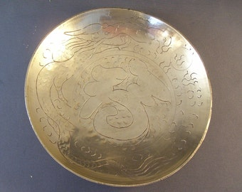 Antique Chinese Brass Dish Exportware 1910-20s