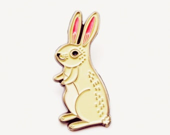 Enamel Pin / BUNNY PIN / Rabbit Pin / PINS — Bunny Enamel Pin Rabbit Enamel Pin Rabbit Brooch Rabbit Jewelry Bunny Jewelry cute bunny gifts