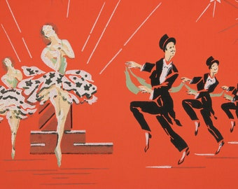 1940's Vintage Wallpaper The Carioca Nightclub Dancing Champagne by the Yard