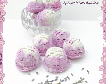 Lavender Vanilla Fizzing Bath Truffles Set of Four