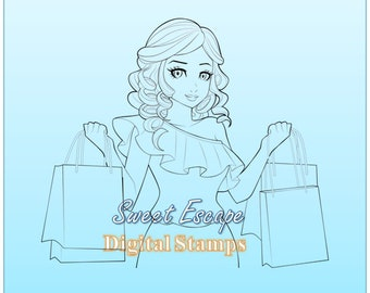 Shopping Day Digital Stamp