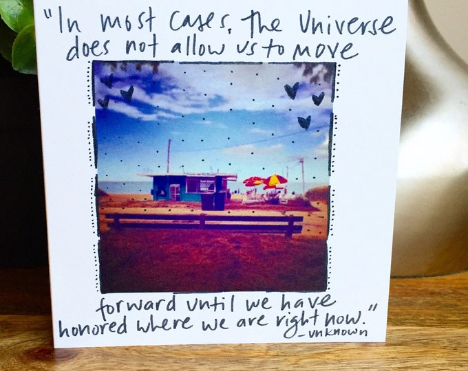 life with you is perfect card, Unique blank card, time warp, sheridan beach, lake michigan photography, blank card with photo, sidesandwich,