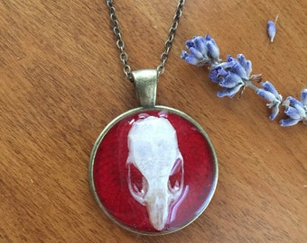 Mouse Skull Pendant Necklace