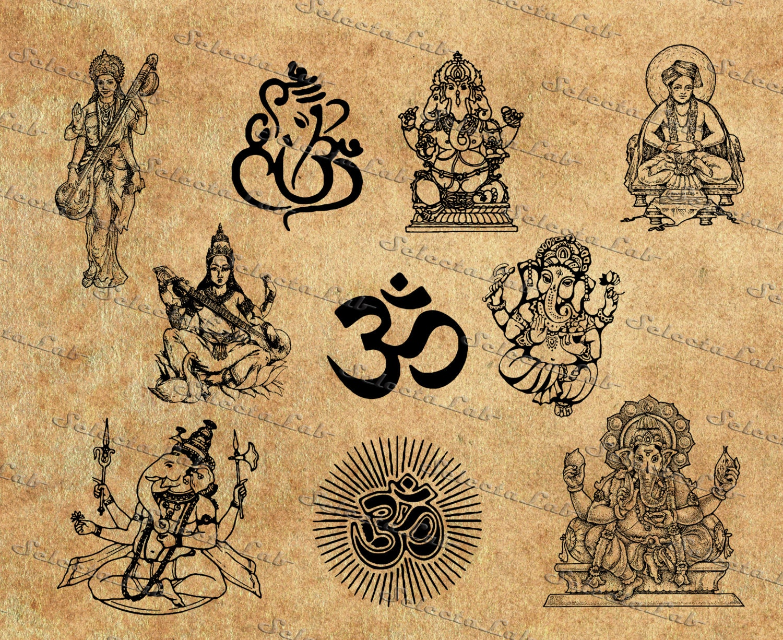 Digital svg png hinduism religion symbol hindu ganesha zoom buycottarizona Image collections