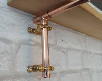 Copper Pipe Shelf Brackets