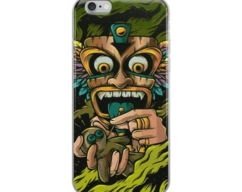 Tiki voodoo Case for iPhone 6 Plus/6s Plus, voodo iPhone 6/6s, vodoo iPhone 7 Plus/8 Plus, vodoo iPhone 7/8 and iPhone X