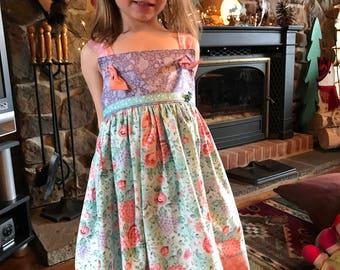 Matilda Jane Style Dress/Easter Dress/Knot Dress/Spring Dress/Botique Dress