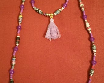 Paper jewellery, paper jewelry, paper crafts, paper necklace, paper bracelet, paper beaded garments