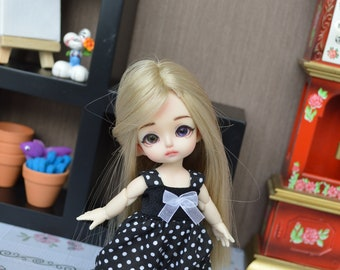 Overall black Nelly with small white dots [1/8 = Tiny BJD.