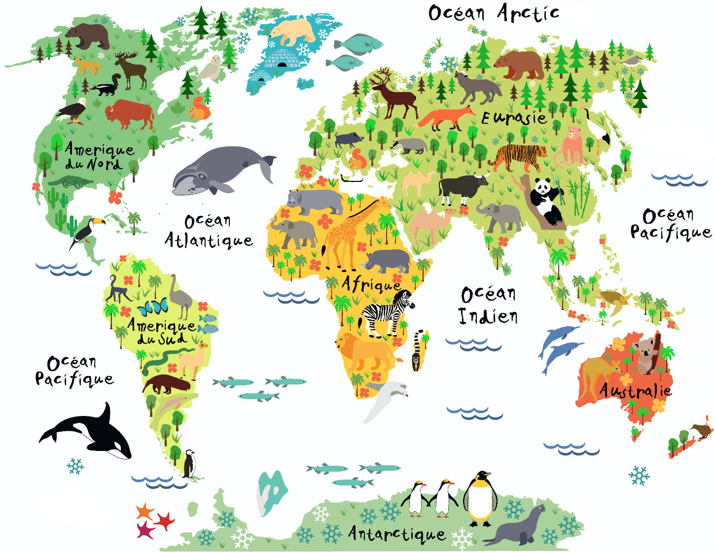 French kids map decal french map french world map french zoom gumiabroncs Images