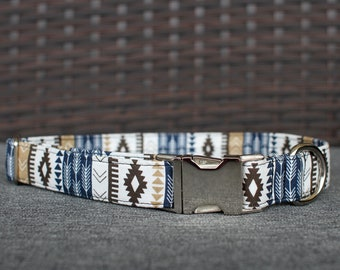 Southwest Collar | Male Dog Collar | Tribal | Metal Buckle | Dog Collar | Large Dog Collar | Small Dog Collar | Pet Collar