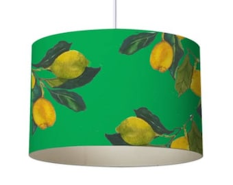 Designer lampshades etsy patterned lampshade designer lampshade lemon lampshade ceiling lampshade contemporary lampshade green mozeypictures Image collections