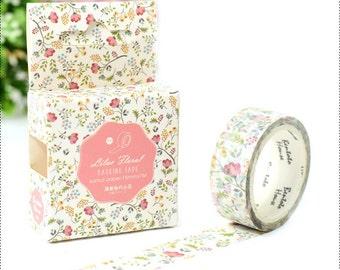 Colorful Flower Tape , Washi Masking Tape, Flower tape,Craft Supply,Sticker Tape
