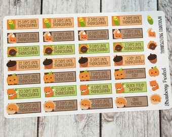 Thanksgiving Countdown Planner Stickers-