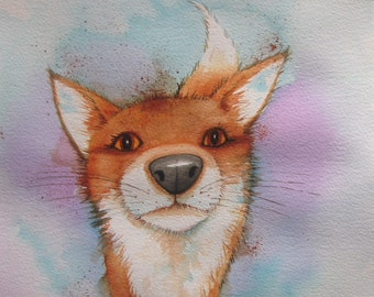 A3 Print Nosey Fox A3 High Quality Art Print / Poster