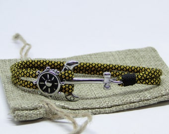 Paracord 550 Nautical (Diamond Gold) Bracelet – CBYS