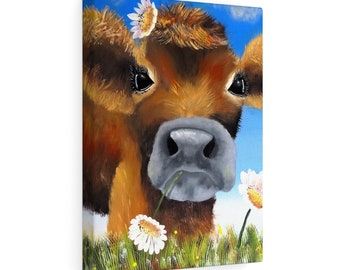 Cow Power  Stretched Canvas