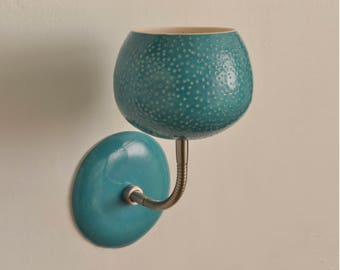 Clay-light Sconce - Aqua or Red - Wall light, hard wired version