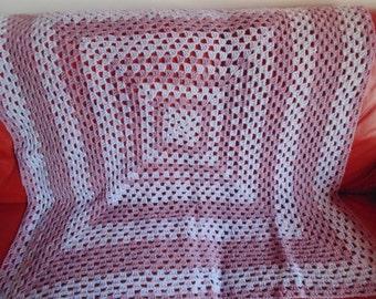 Hand Crochet Blanket / Throw (free P&P)