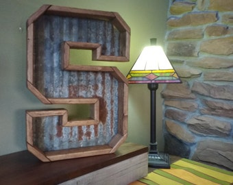 Large Metal Letters, 3D Rustic, Chunky Thick Metal Initials, Stained Or  Unfinished For