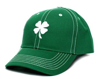 Ireland Irish Shamrock Clover Leaf St Patricks Day Embroidered Hat